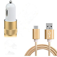 Prise EU Chargeur USB pour téléphone Kit de Chargeur Multiport 100 cm Prises électriques 2 Ports USB 3.1A DC 12V-24V