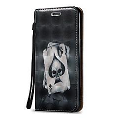 halpa Muut Samsung kotelot / kuoret-Etui Käyttötarkoitus Samsung Galaxy J7 (2016) J5 (2016) Lomapkko Korttikotelo Flip Kokonaan peittävä Pääkallot Kova PU-nahka varten On 5