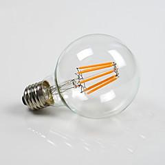 お買い得  LED 電球-800lm E26 / E27 LEDボール型電球 G80 8 LEDビーズ COB 調光可能 温白色 110-130V 220-240V