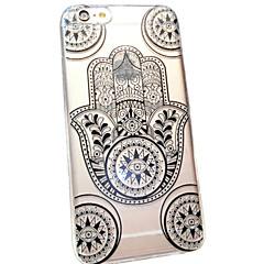 Для Кейс для iPhone 6 / Кейс для iPhone 6 Plus Прозрачный / С узором Кейс для Задняя крышка Кейс для Кружевной дизайн Мягкий TPUiPhone 6s