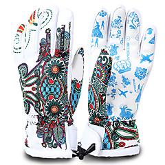 Rękawice narciarskie Męskie Damskie Full Finger Keep Warm Wodoodporny Quick Dry Wiatroodporna 100% Polyester Narciarstwo Zima