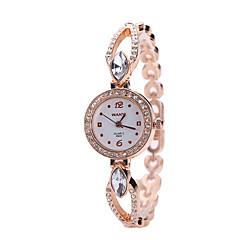お買い得  レディース腕時計-女性用 ファッションウォッチ リストウォッチ クォーツ 合金 バンド シルバー ゴールド