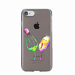 Для Прозрачный / С узором Кейс для Задняя крышка Кейс для Мультяшная тематика Мягкий TPU для AppleiPhone 7 Plus / iPhone 7 / iPhone 6s