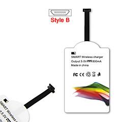 모든 안드로이드 마이크로 USB 스타일-B 스마트 폰에 대한 mindzo 제나라 표준 5V1A 스타일-B 무선 충전기 수신기