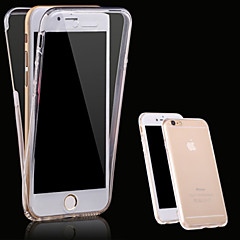 billige Etuier til iPhone 7 Plus-Etui Til Apple iPhone X iPhone 8 iPhone 5 etui iPhone 6 iPhone 6 Plus iPhone 7 Plus iPhone 7 Transparent Fuldt etui Helfarve Blødt TPU for