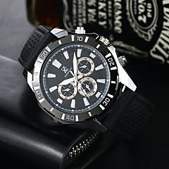 preiswerte Tolle Angebote auf Uhren-Herrn Sportuhr / Militäruhr Armbanduhren für den Alltag Silikon Band Freizeit / Modisch / Kleideruhr Schwarz / Weiß / Rot