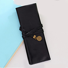 PU Leather Three Fold Pen Bag(1 PCS Assorted Color)