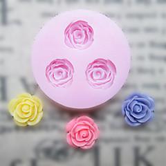 DIY Drei Löcher Blume Silikon-Form-Fondant Zucker Formen Bastelwerkzeuge Resin Blumen Mould Formen für Kuchen