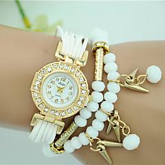 お買い得  大特価腕時計-女性用 ブレスレットウォッチ クォーツ ホット販売 生地 バンド ハンズ パール ファッション ブラック / 白 / ブルー - レッド ブルー ライトブルー 1年間 電池寿命 / Tianqiu 377