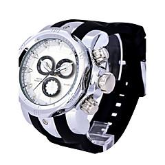 お買い得  メンズ腕時計-男性用 ドレスウォッチ ファッションウォッチ スポーツウォッチ クォーツ カレンダー 耐水 本革 バンド カジュアル 多色