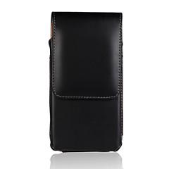 iphone 6 için hakiki inek derisi deri pu çevirme cüzdan dikey durumda kemer klipsi çantası kapak ceket