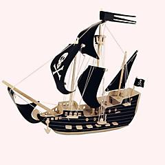 ieftine -Puzzle Lemn Navă Corabie de pirati nivel profesional Lemn 1pcs Pirat Pirați Pentru copii Fete Băieți Cadou