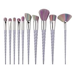 10 Blushkwast Oogschaduwkwast Concealerkwast Poederkwast Contour Brush Brush Sets Synthetisch haar Reizen Beugel Draagbaar Kunststof