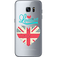 billige Galaxy S6 Edge Etuier-Etui Til Samsung Galaxy S7 edge S7 Ultratyndt Transparent Mønster Bagcover Flag Blødt TPU for S7 edge S7 S6 edge plus S6 edge S6