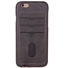 Назначение iPhone X iPhone 8 iPhone 8 Plus iPhone 7 iPhone 7 Plus iPhone 6 Чехлы панели Бумажник для карт Задняя крышка Кейс для Сплошной