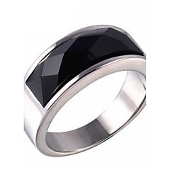 Vallomás gyűrűk Gyűrű Onyx Achát Titanium Acél Divat Arany Ezüst Ékszerek Napi Hétköznapi 1db
