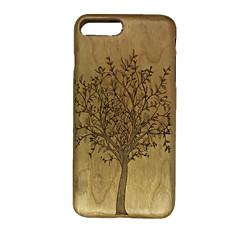 Для Рельефный Кейс для Задняя крышка Кейс для дерево Твердый Дерево для Apple iPhone 7 Plus