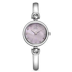 お買い得  メンズ腕時計-SK 女性用 クォーツ ドレスウォッチ / カジュアルウォッチ 合金 バンド カジュアル Elegant ファッション シルバー ゴールド