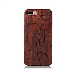 Для Защита от удара С узором Рельефный Кейс для Задняя крышка Кейс для Полосы / волосы Твердый Дерево для AppleiPhone 7 Plus iPhone 7