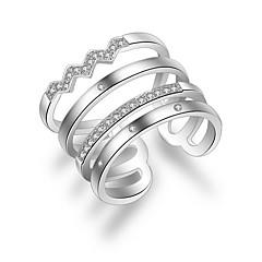 お買い得  指輪-女性用 バンドリング / ナックリリング  -  銀メッキ, 合金 ファッション ワンサイズ シルバー 用途 結婚式 / パーティー / 日常