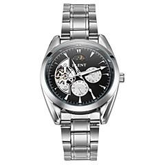 お買い得  メンズ腕時計-ASJ 男性用 機械式時計 日本産 自動巻き 30 m 耐衝撃性 ムーンフェイズ ステンレス バンド ハンズ チャーム ぜいたく ヴィンテージ シルバー - ブラック