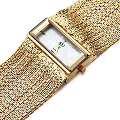 お買い得  メンズ腕時計-ASJ 女性用 ブレスレットウォッチ 日本産 クォーツ 30 m 耐水 耐衝撃性 銅 バンド ハンズ チャーム カジュアル シルバー - シルバー ゴールド 1年間 電池寿命