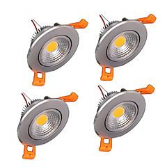 z®zdm 4szt 5W 500-550lm wsparcie ściemniania doprowadziły lampek panelu ciepły biały zimny biały biały naturalny AC110V / 220V / 12V