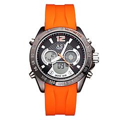 preiswerte Tolle Angebote auf Uhren-ASJ Herrn Digitaluhr Japanisch Kalender / Wasserdicht / Kompass Silikon Band Freizeit / Modisch Schwarz / Orange / Edelstahl / leuchtend / LCD / Duale Zeitzonen / Stopuhr