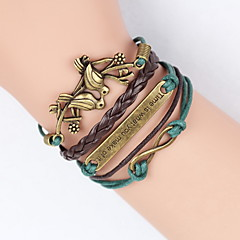 Leather Bracelet Fashion Infinity Bracelet Peace Dove Tree of Life Friendship Bracelet Wrap bracelet jewelry Christmas Gifts