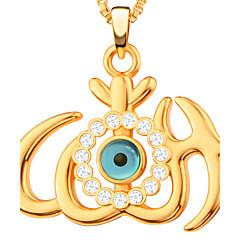 Муж. Жен. Женский Ожерелья с подвесками Стразы В форме сердца Сглаз Медь Стразы Позолота Искусственный бриллиант Мода Бижутерия Назначение