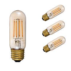 preiswerte LED-Birnen-GMY® 4pcs 3.5W 300lm E26 LED Glühlampen T 4 LED-Perlen COB Abblendbar Dekorativ Bernstein 110-130V