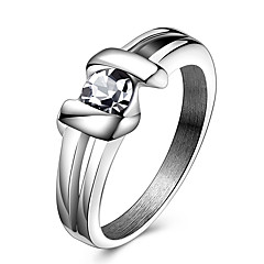Damskie Duże pierścionki Pierscionek Kryształ Kryształ Stal tytanowa Biżuteria Na Impreza Codzienny Casual Sport