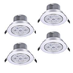 billige Indendørsbelysning-zdm 4 stk 7w 750-850lm høj effekt dæmpbar led panel lys varm hvid cool hvid naturlig hvid ac110 / 220v / 12v