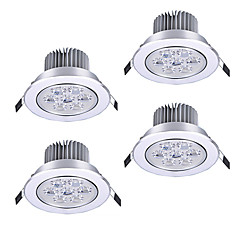 cheap Indoor Lights-ZDM 4PCS 7W LED Dimming High Power LED Ceiling Spot Warm White/Natural White/Cold White/Thickened Aluminum High Brightness Bead AC12V/AC220V/AC110V
