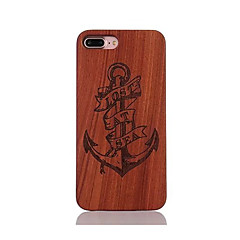 For Stødsikker Præget Mønster Etui Bagcover Etui Anker Hårdt Træ for AppleiPhone 7 Plus iPhone 7 iPhone 6s Plus/6 Plus iPhone 6s/6 iPhone