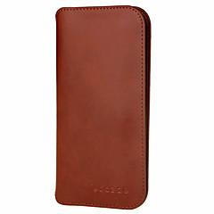 Для Кошелек Бумажник для карт Кейс для Чехол Кейс для Один цвет Твердый Натуральная кожа для Universal Apple Samsung Huawei Xiaomi Other