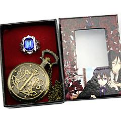 voordelige Anime cosplay-Klok/Horloge Meer Accessoires geinspireerd door Black Butler Ciel Phantomhive Anime Cosplayaccessoires Klok/Horloge Ring Mannelijk