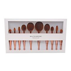10 Concealerkwast Poederkwast Foundationkwast Contour Brush Brush Sets Blushkwast Oogschaduwkwast Lippenkwast Synthetisch haar Beugel