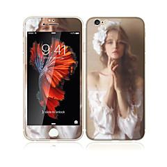 til Apple iPhone 6s plus / 6plus 5,5 tommer hærdet glas med blød kant foran skærmen fuld skærm dækning beskytter og rygbeskytter sexy lady