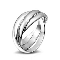 お買い得  指輪-女性用 バンドリング / 指輪  -  合金 ファッション 6 / 7 / 8 シルバー 用途 結婚式 / パーティー / 日常