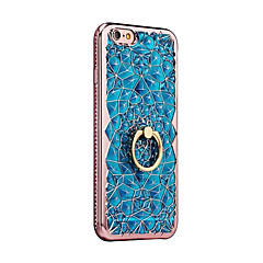 Etui Til Apple iPhone X iPhone 8 Ringholder Bagcover Anden Blødt TPU for iPhone X iPhone 8 Plus iPhone 8 iPhone 7 Plus iPhone 7 iPhone 6s