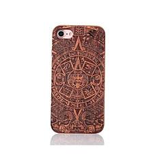 Для Защита от удара Рельефный С узором Кейс для Задняя крышка Кейс для Мультяшная тематика Твердый Дерево для AppleiPhone 7 Plus iPhone 7