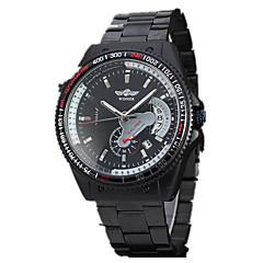voordelige Sporthorloge-Heren Sporthorloge Dress horloge Modieus horloge Polshorloge mechanische horloges Automatisch opwindmechanisme Hol Gegraveerd Grote