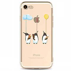 Недорогие Кейсы для iPhone 7-Кейс для Назначение Apple iPhone X / iPhone 8 Plus / iPhone 7 С узором Кейс на заднюю панель Композиция с логотипом Apple Мягкий ТПУ для iPhone X / iPhone 8 Pluss / iPhone 8