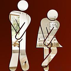 사람들 벽 스티커 거울 벽스티커 화장실 스티커,비닐 자료 이동가능 홈 장식 벽 데칼