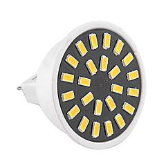 お買い得  LED 電球-1個 3W 400-500lm GU5.3(MR16) LEDスポットライト MR16 24 LEDビーズ SMD 5733 装飾用 温白色 クールホワイト 110-130V 220-240V