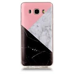 halpa Muut Samsung kotelot / kuoret-Etui Käyttötarkoitus Samsung Galaxy J7 (2016) J5 (2016) IMD Kuvio Takakuori Marble Pehmeä TPU varten J7 (2016) J7 J5 (2016) J5 J3 J3