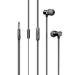 joway hp28 interfejs słuchawkowe 3.5mm douszne z pilotem i mikrofonem zestawu słuchawkowego przewodowe dla smartfonów / odtwarzacz muzyki