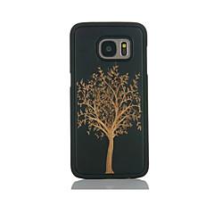 Etui Til Samsung Galaxy S7 edge S7 Mønster Bagcover Træ Hårdt Bambus for S7 edge S7 S6 edge S6