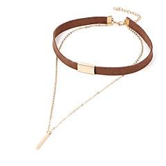 preiswerte Halsketten-Halsketten - Spitze Retro, Euramerican Schwarz, Braun Modische Halsketten Für Party, Geburtstag, Alltag / Normal